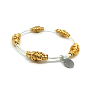 BAS Junie Bangle Silver & Gold - Villancher Gifts &  Fashion Accessories