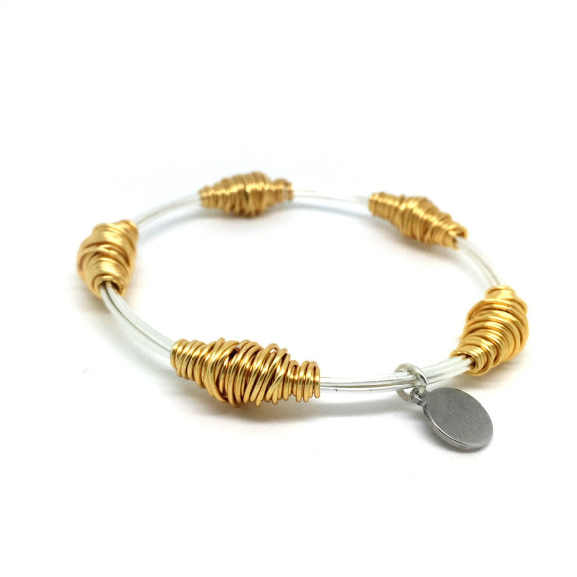 BAS Junie Bangle Silver & Gold - WAS £35 - Villancher Gifts &  Fashion Accessories