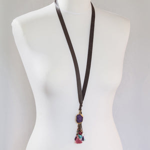 Moon˚C Leather Bright Charms Necklace - LAST 3 - WAS £25 - Villancher Gifts &  Fashion Accessories