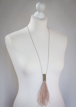 Moon˚C Nude Feather Necklace - WAS £25 - LAST 2