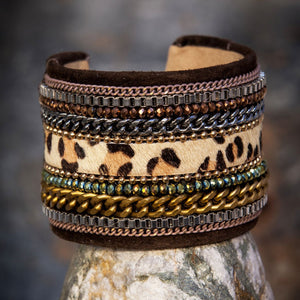 Africa Cheetah Cuff - WS £25- - Villancher Gifts &  Fashion Accessories