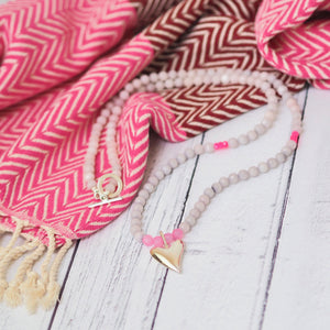 Pranella Sylvee Pink Heart Necklace - Was £49 - Villancher Gifts &  Fashion Accessories