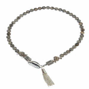 Pranella Lorelei Grey Tassel Choker - Villancher Gifts &  Fashion Accessories