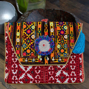 Madame Hippy Bag Red - Villancher Gifts &  Fashion Accessories