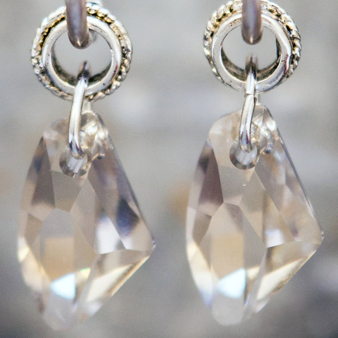 Clear Swarowski Crystal  Earrings
