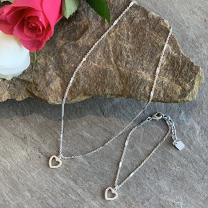Tutti&Co silver simple Heart Necklace - Villancher Gifts &  Fashion Accessories