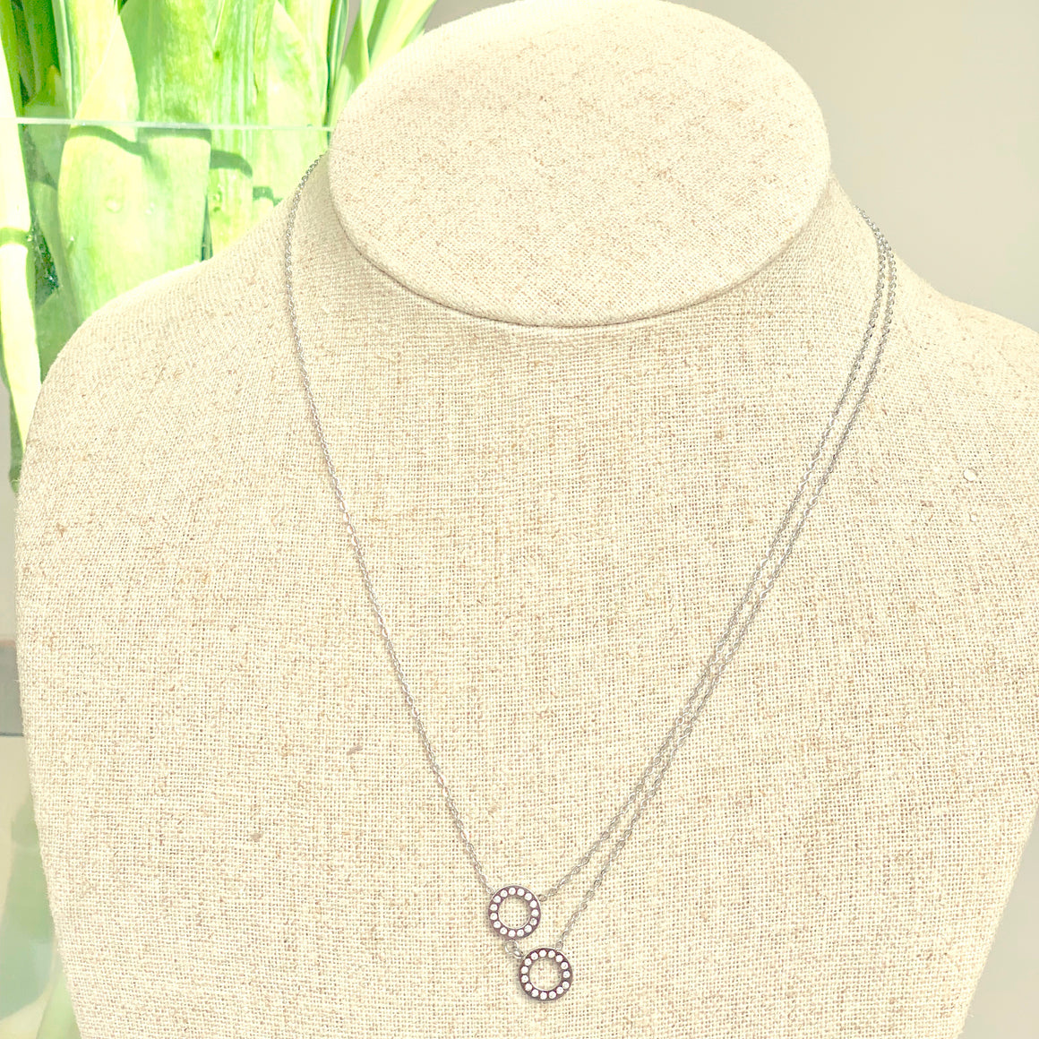 Junie Love Circle Necklace - Villancher Gifts &  Fashion Accessories