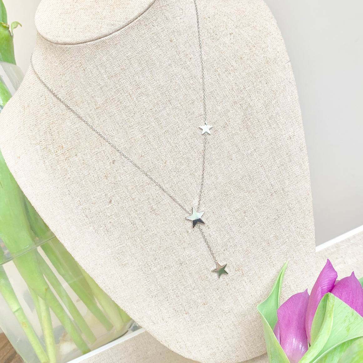 Estrella triple Star Necklace