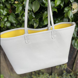 Large Grey & Yellow  Shopper BAG