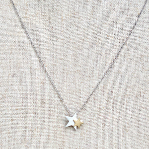 Stellina double Star Necklace