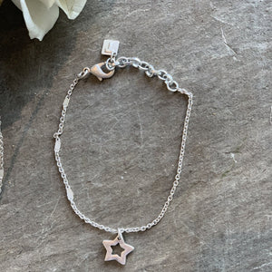 Tutti&Co silver simple Star Bracelet - Villancher Gifts &  Fashion Accessories