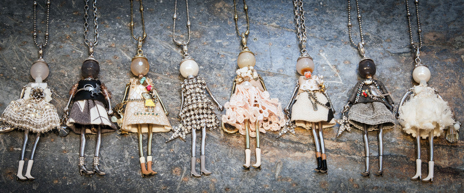 French Diva Doll Necklaces