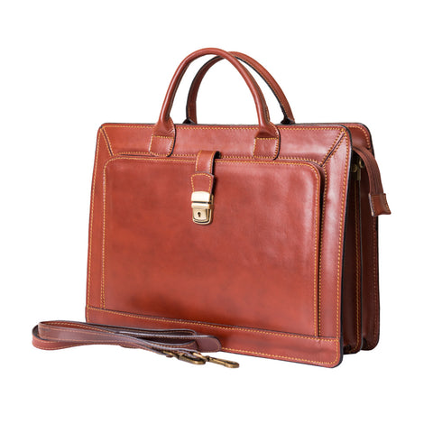 SAM BROWN LEATHER BRIEFCASE - www.marlafiji.com