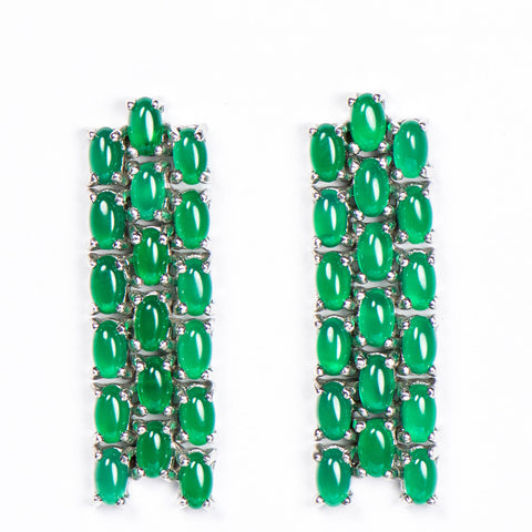 ANGELINA GREEN AVENTURINE WATERFALL EARRINGS - www.marlafiji.com