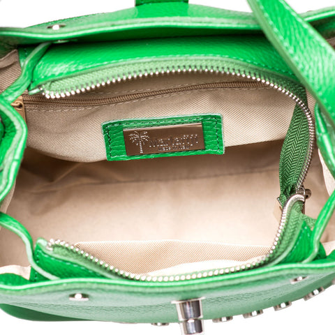 APPLE GREEN ITALIAN LEATHER DUFFEL BAG - www.marlafiji.com