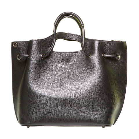 BABE PEBBLE LEATHER SHOPPER