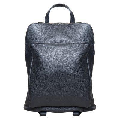 BEE BLACK ITALIAN LEATHER BACKPACK - www.marlafiji.com