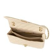BIANCA CREAM QUILTED ITALIAN LEATHER SHOULDER BAG - www.marlafiji.com