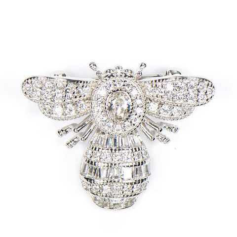 CHARLIZE BUMBLE BEE STERLING SILVER BROOCH - www.marlafiji.com