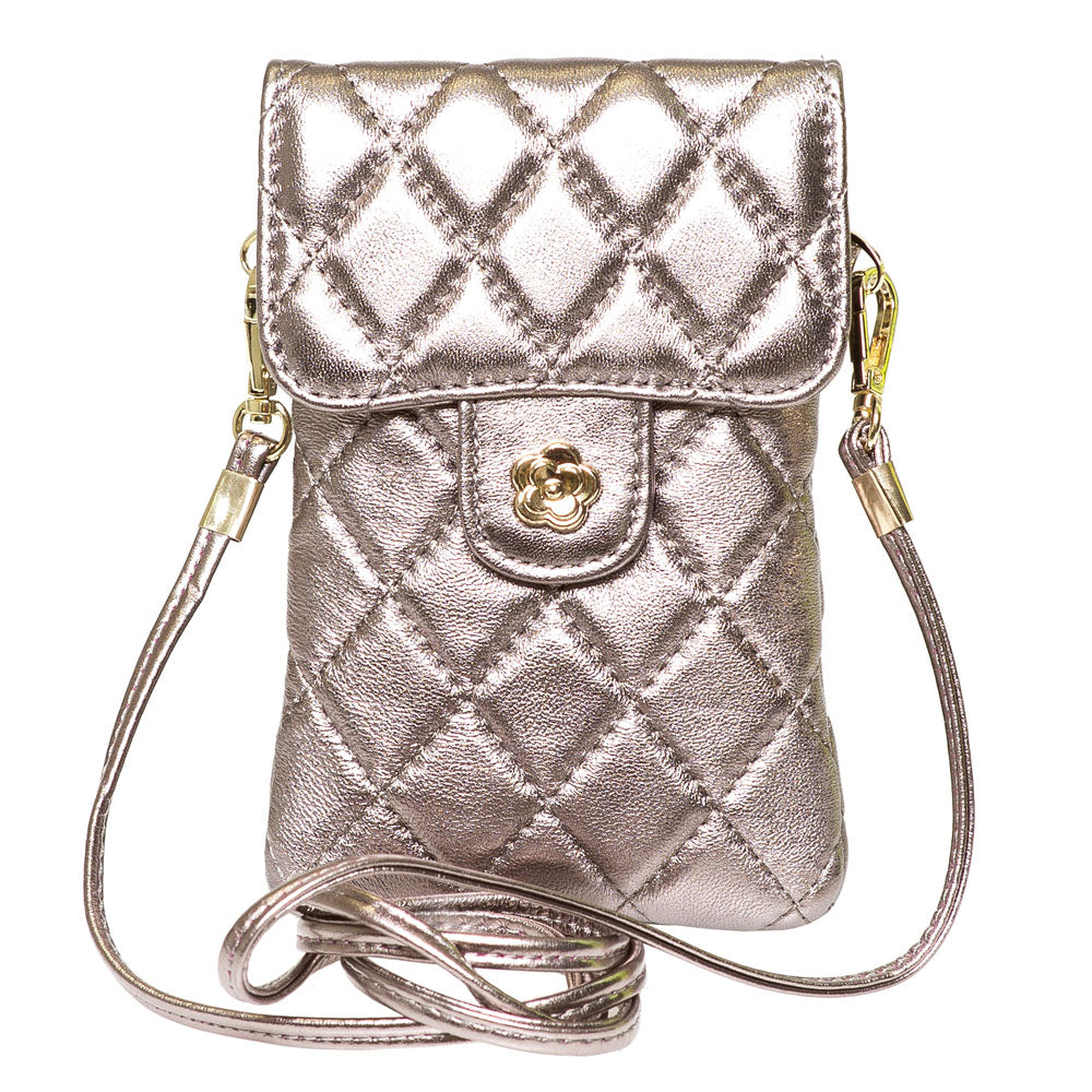 EMM FROSTED MUSHROOM QUILTED LEATHER MINI SHOULDER  BAG - www.marlafiji.com