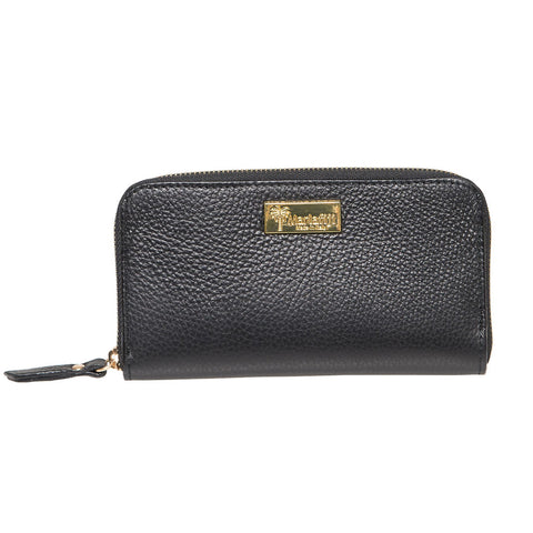 EUGENIA BLACK ITALIAN LEATHER LADIES WALLET - www.marlafiji.com