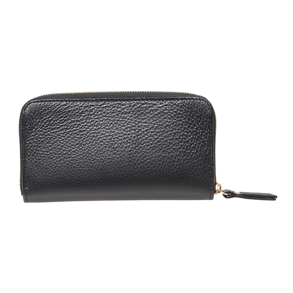 ALISON BLACK  LEATHER LADIES WALLET - www.marlafiji.com