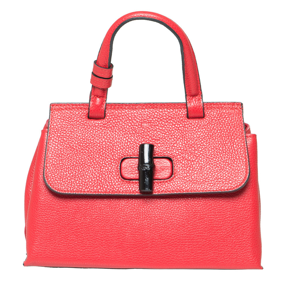 FRANCESCA RED HANDBAG