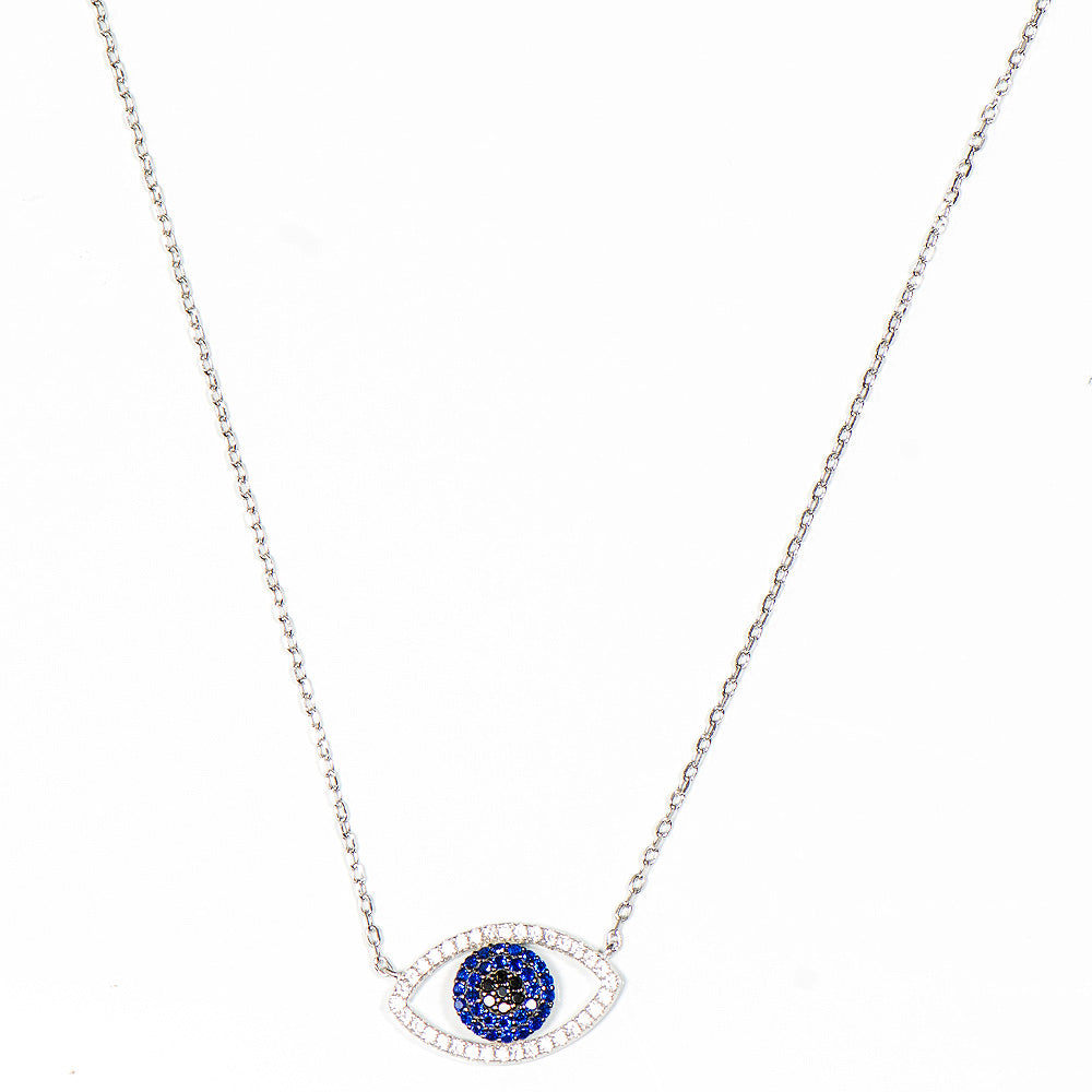 GAIL STERLING  SILVER EYE THEME NECKLACE - www.marlafiji.com