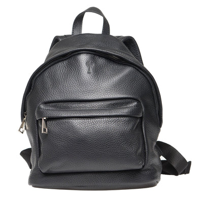 GEORGE UNISEX BLACK LEATHER  BACKPACK - www.marlafiji.com