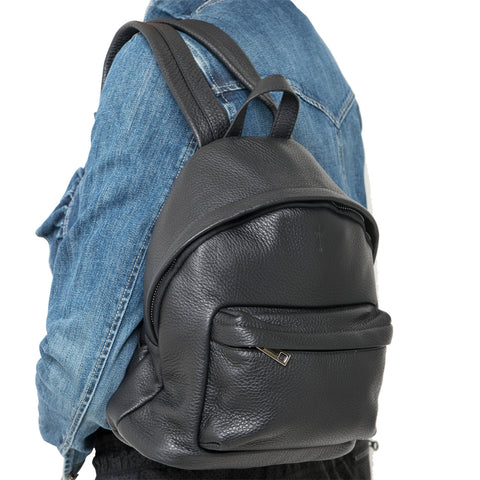 GEORGE UNISEX BLACK BACKPACK - www.marlafiji.com