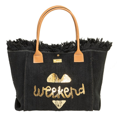 GIDGET BLACK BEACH BAG - www.marlafiji.com