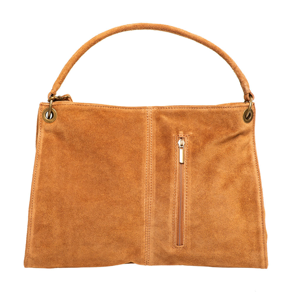 GRETA BROWN SUEDE SHOULDERBAG