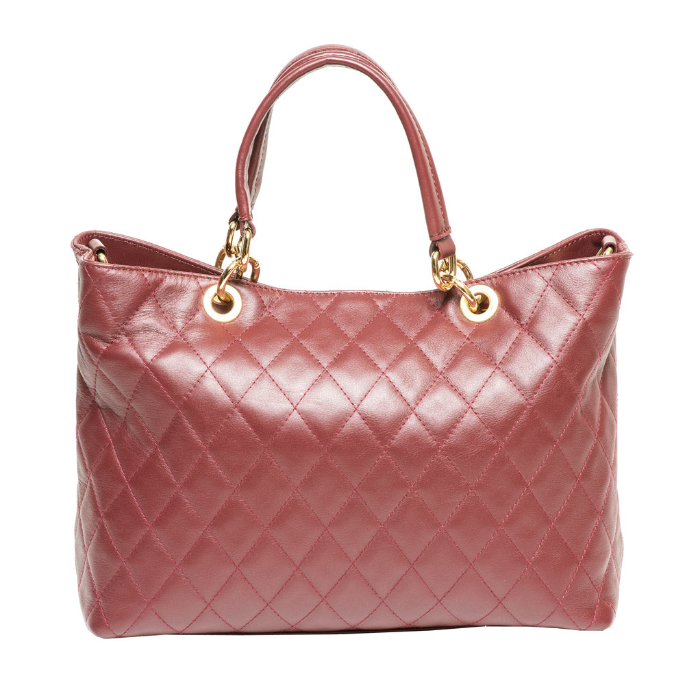 HEATHER BURGUNDY QUILTED HANDBAG - www.marlafiji.com