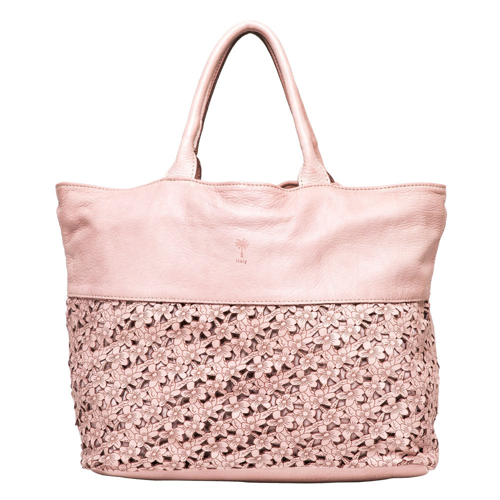 HELANA BLUSH LEATHER SHOPPER - www.marlafiji.com