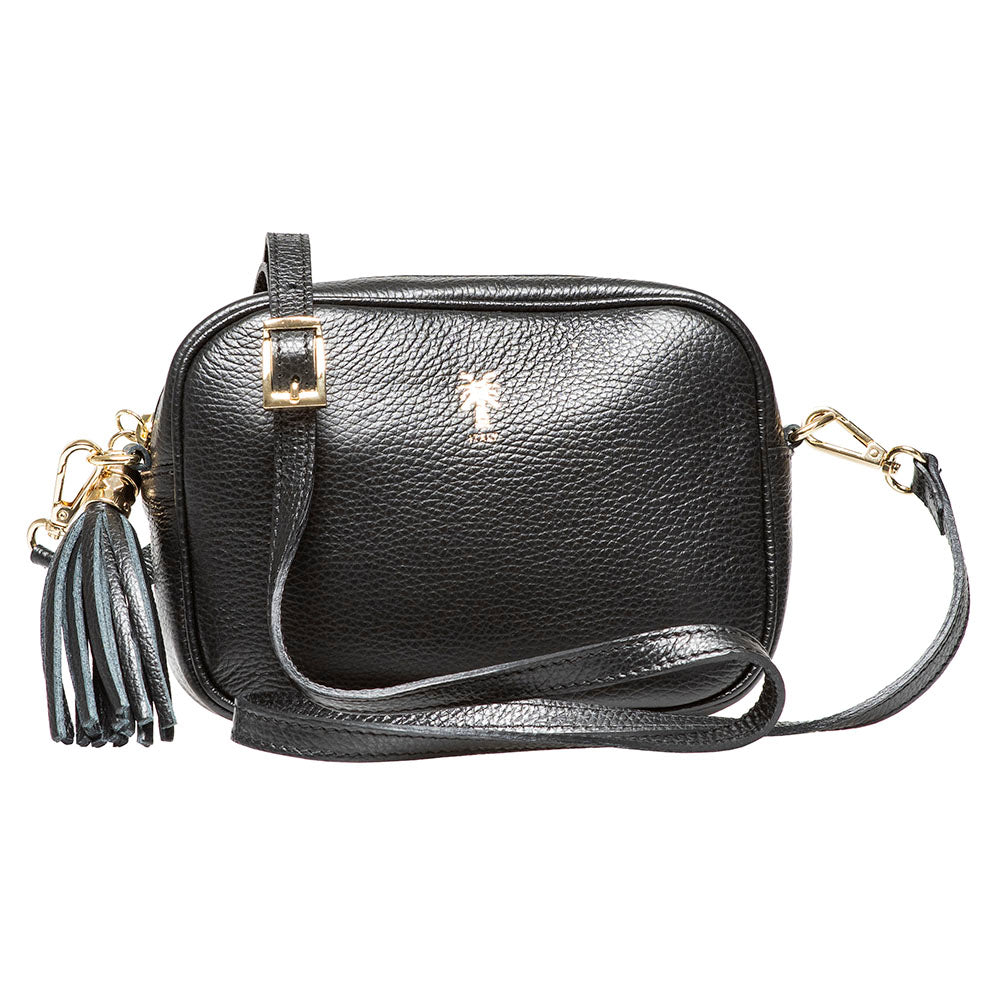 HILTON BLACK CROSSBODY BAG - www.marlafiji.com