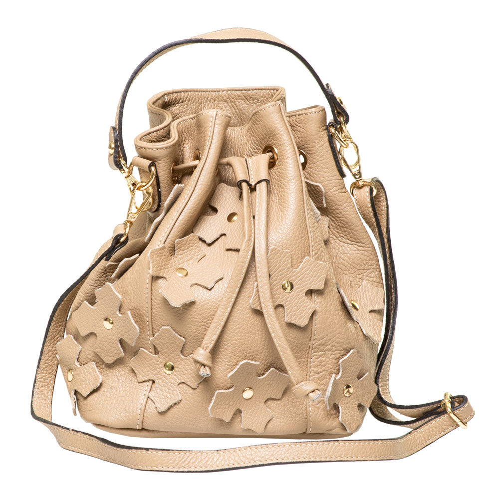 HOPE TAUPE LEATHER  DUFFEL BAG