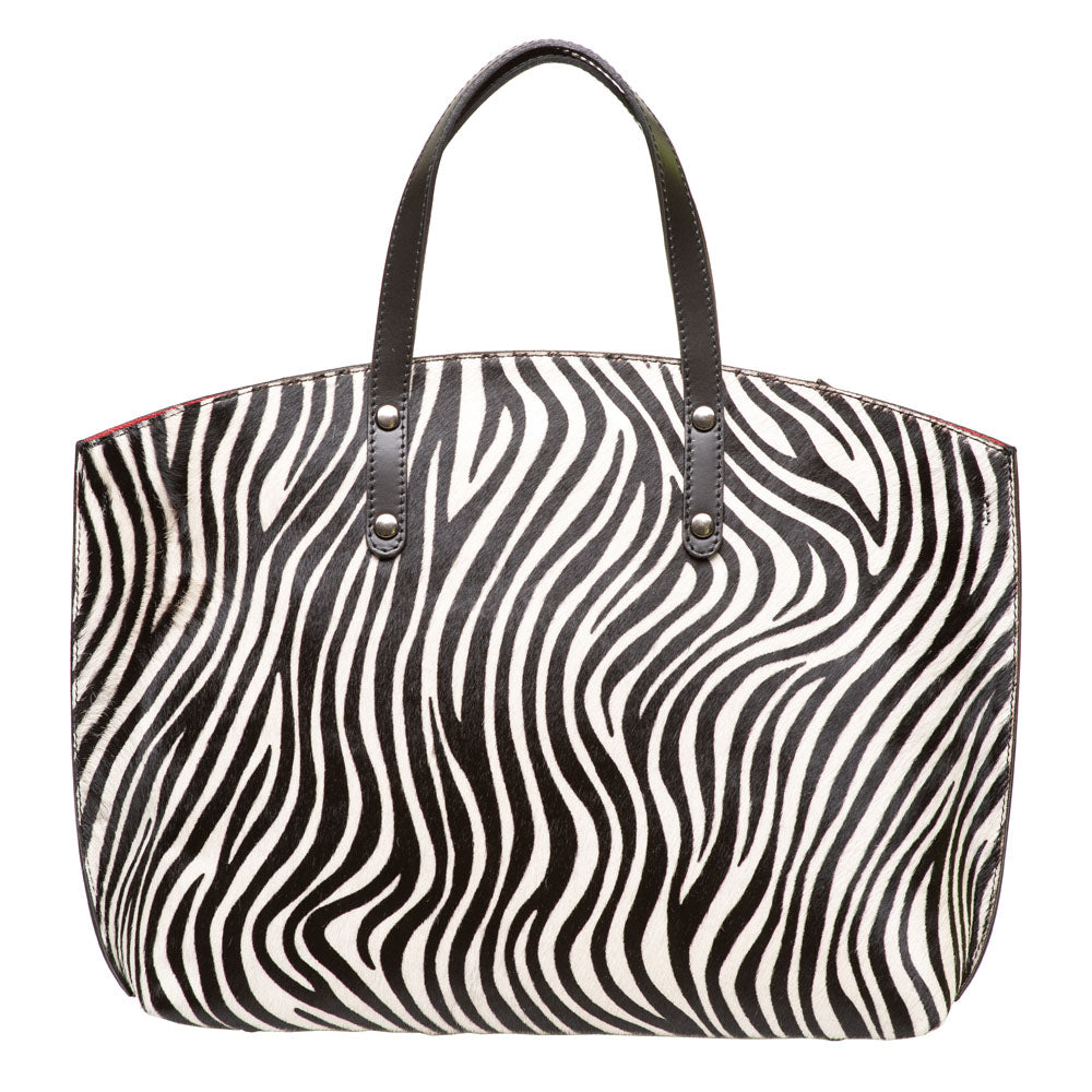 ISSY ZEBRA FRONT TOTE