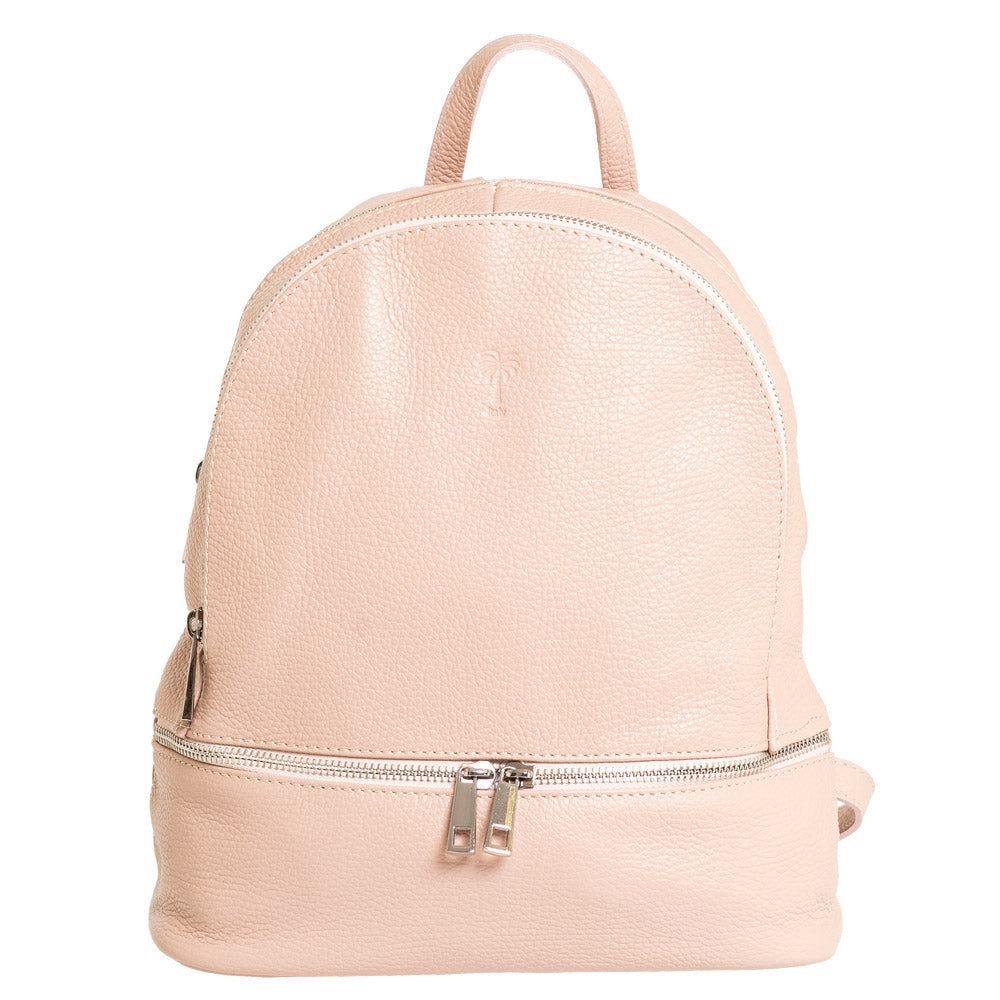 JAY PINK LEATHER BACKPACK