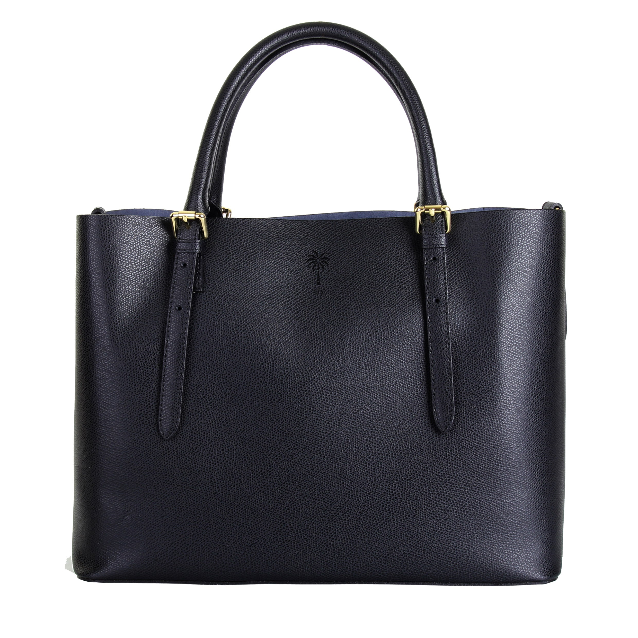 JENNIFER BLACK ITALIAN LEATHER TOTE