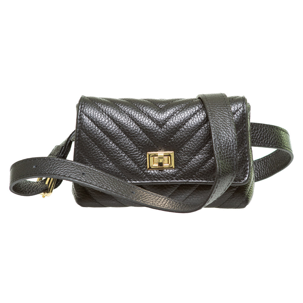 JET BLACK ITALIAN LEATHER SLING - www.marlafiji.com