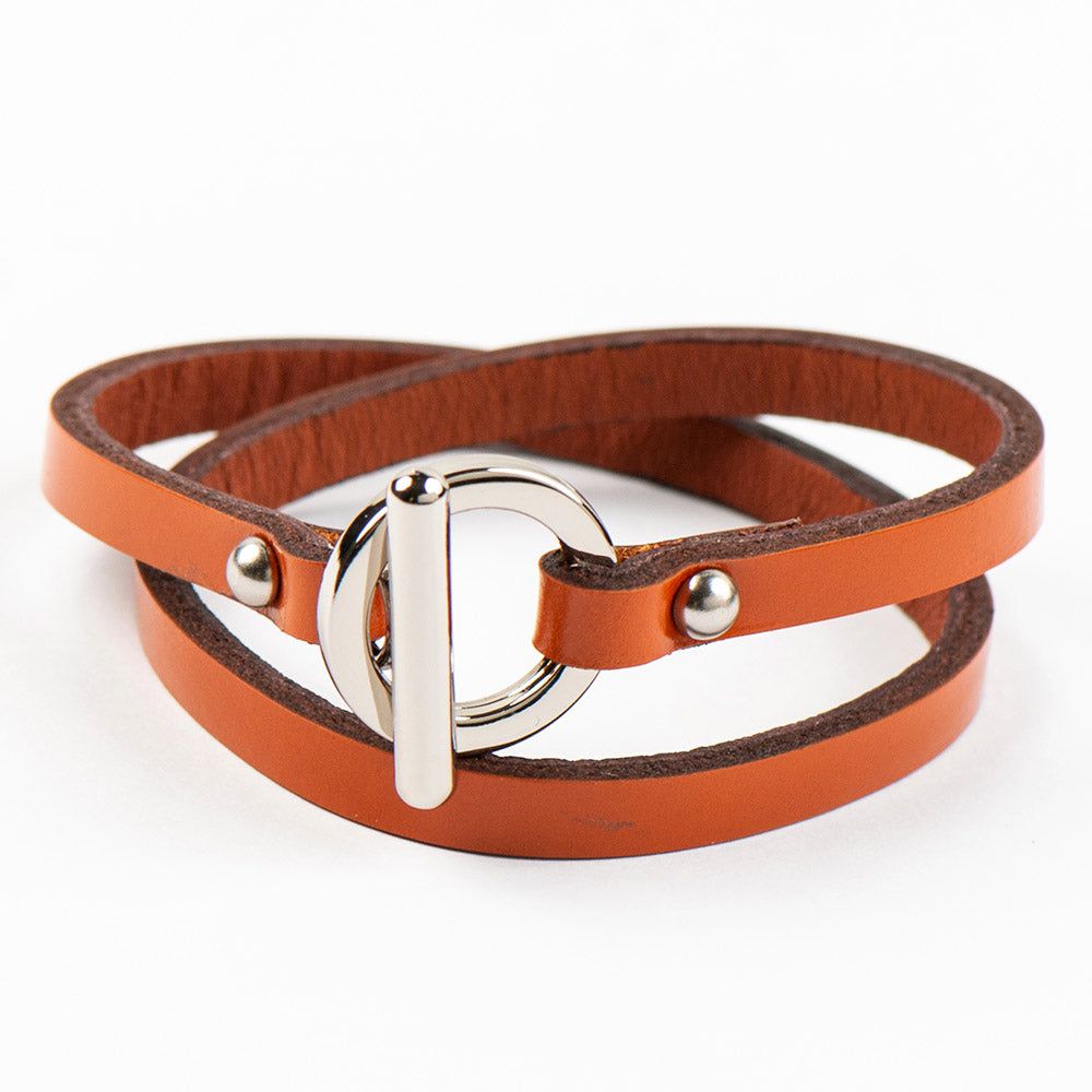 JO ORANGE UNISEX LEATHER BRACELET - www.marlafiji.com