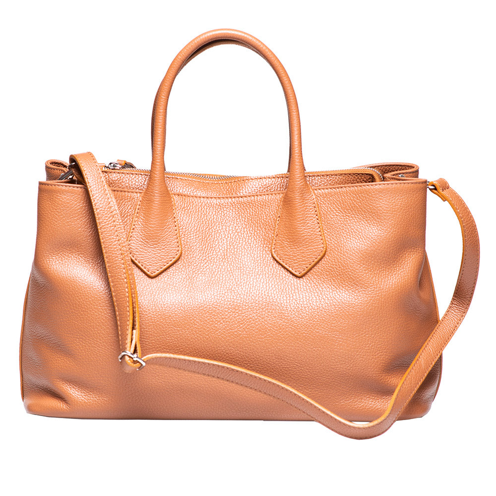 KAMALA CAMEL LEATHER BAG - www.marlafiji.com