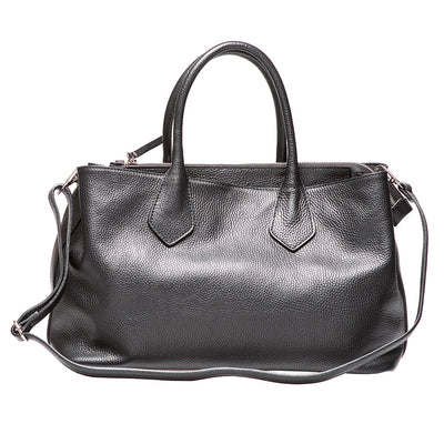KAMALA BLACK LEATHER BAG - www.marlafiji.com