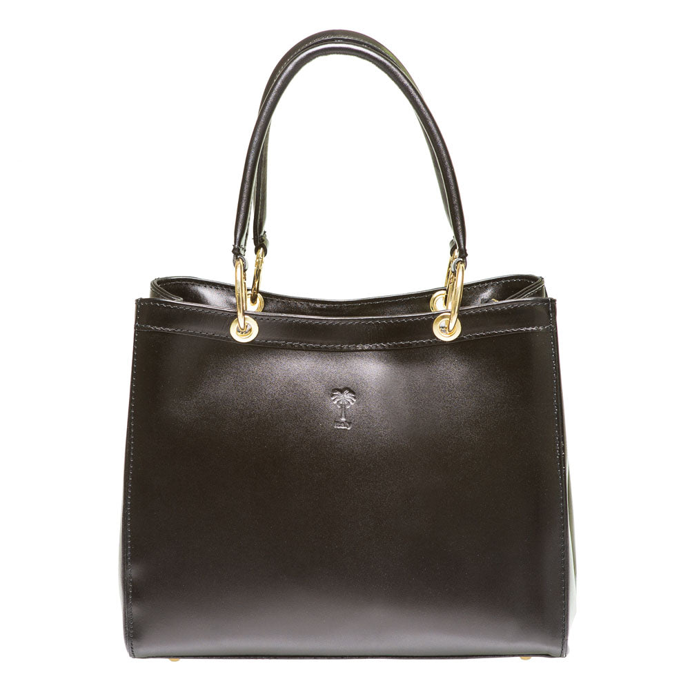 KAMLA BLACK LEATHER  HANDBAG - www.marlafiji.com