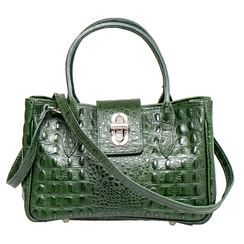 KELLY CROC EMBOSSED GREEN MINI HANDBAG - www.marlafiji.com