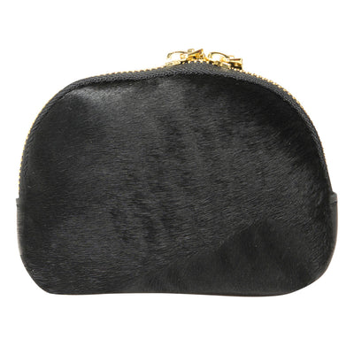 KITTY BLACK FUR FRONT PURSE
