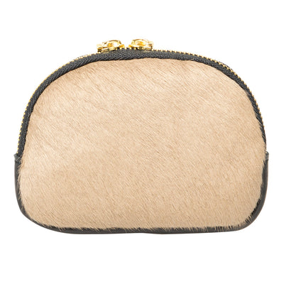 KITTY TAUPE FUR FRONT PURSE