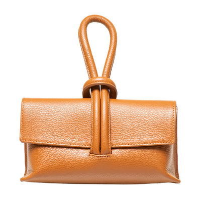 LATICIA COGNAC CLUTCH/CROSS-BODY BAG - www.marlafiji.com