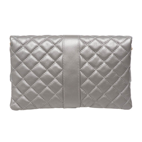 LAUREN GREY QUILTED SHOULDER BAG - www.marlafiji.com