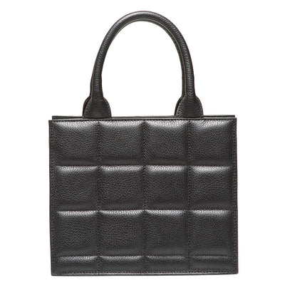 LEVE BLACK LEATHER TOTE BAG - www.marlafiji.com